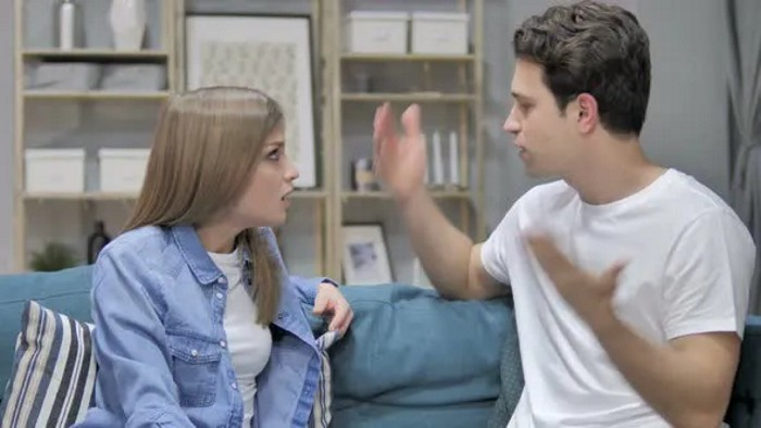 Picture of an arguing couple